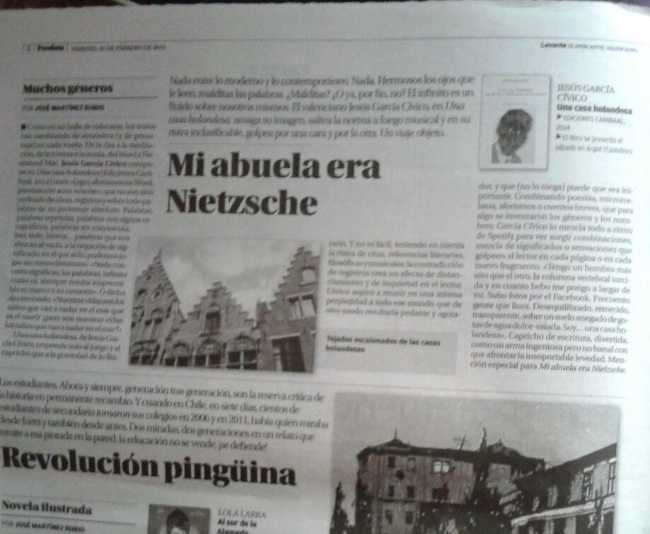 «Una casa holandesa» en Posdata: Levante
