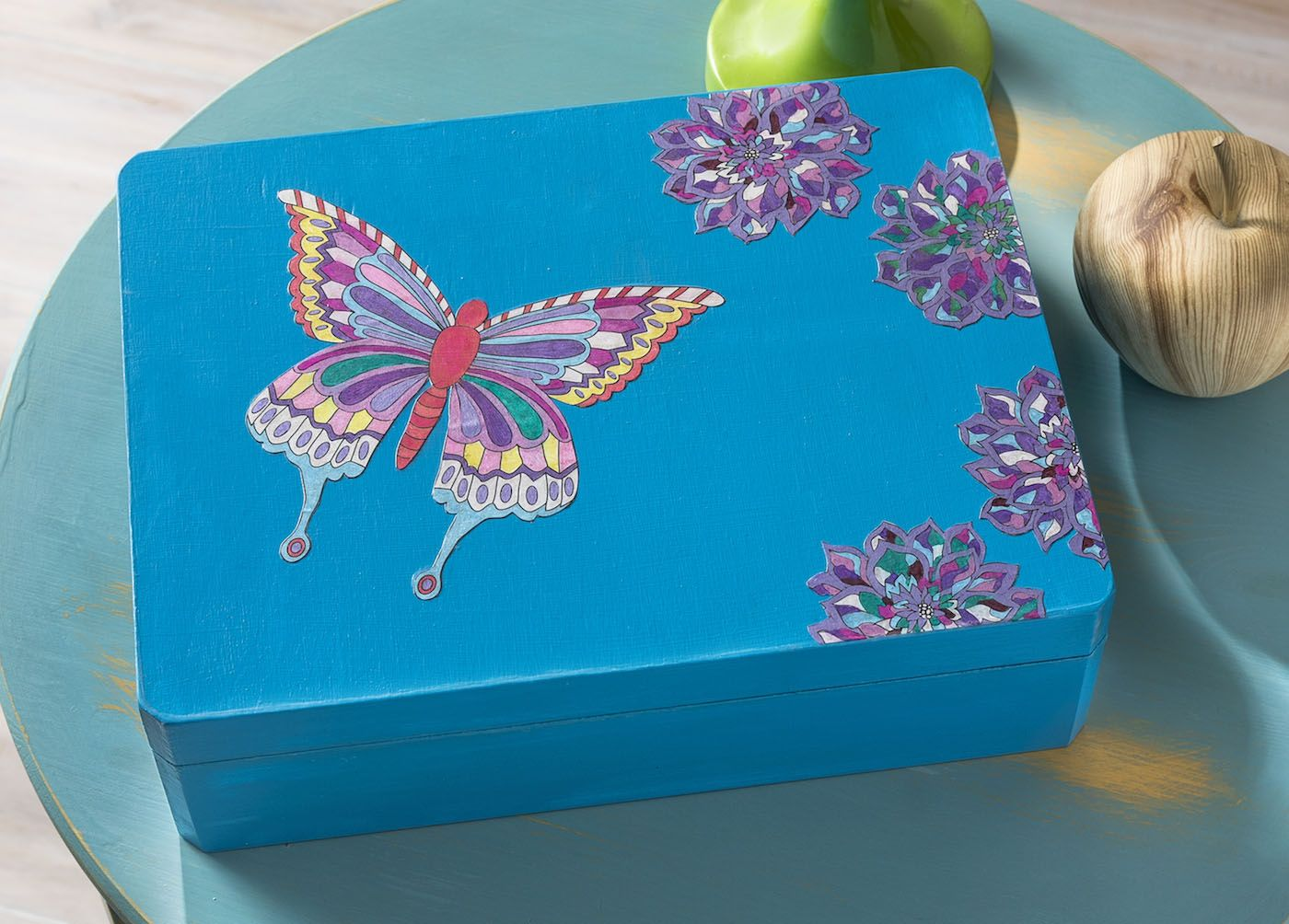 How To Decorate Boxes Decorate A Box With Adult Color Pages  Box Craft And Gift