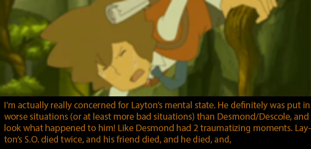 Layton Confessions << It's okay, Hershel. I'll love you even if you are a bit mad. I'm mad too.
