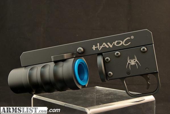 Side Loading Havoc Launcher/Smoke-Flare Grenade Launcher for AR-15/M-4