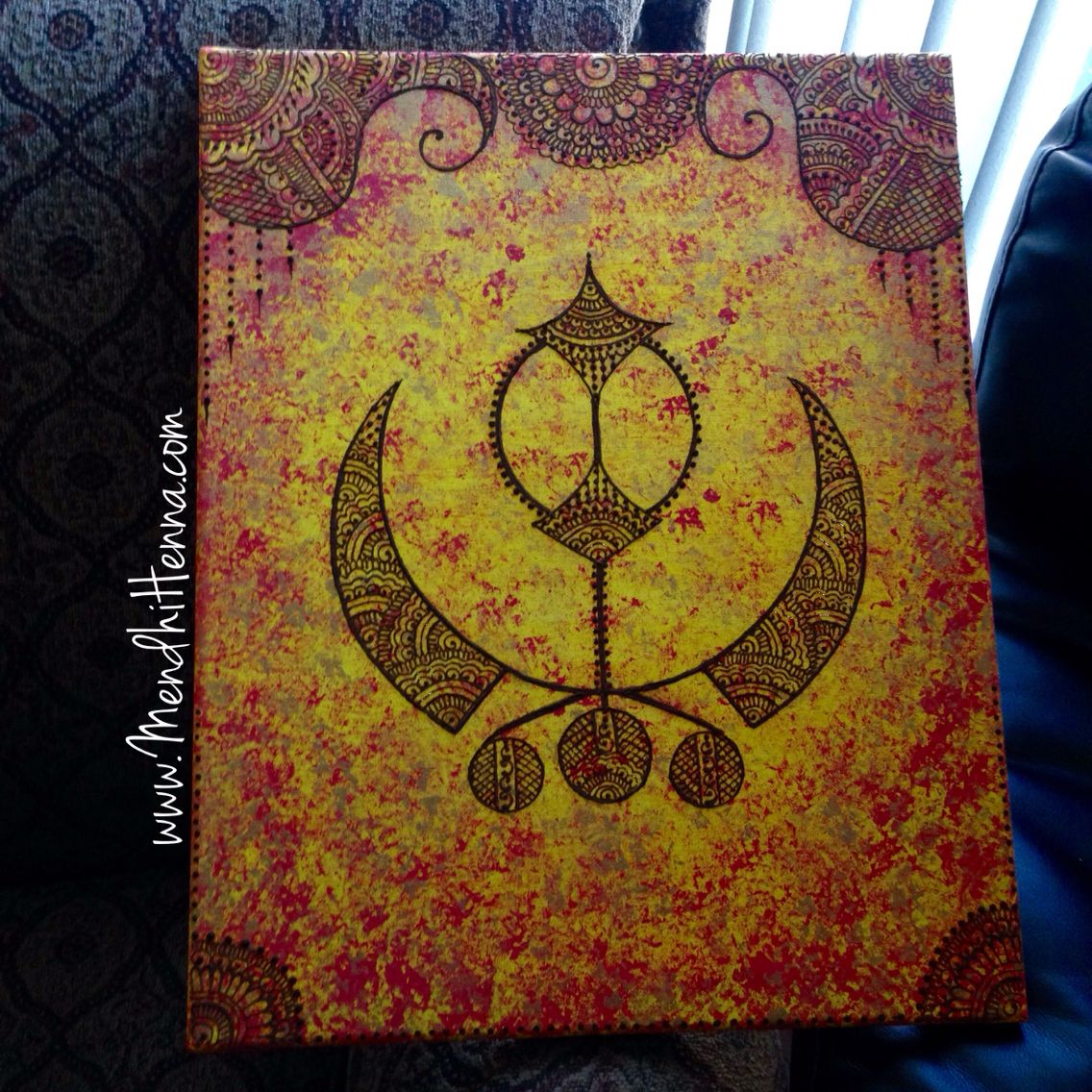 16x20 henna canvas wall decor www.MendhiHenna.com Instagram ...