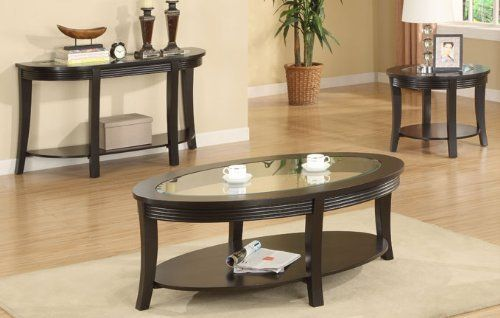 Best Beautiful Wooden End Table With Glass Top In Espresso 640 x 480