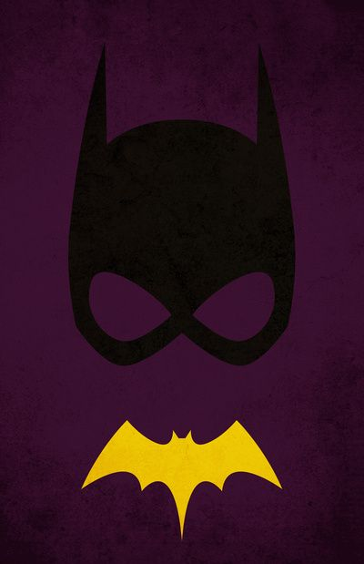 Bat girl superhero series minimal movie poster by for Minimal art hero