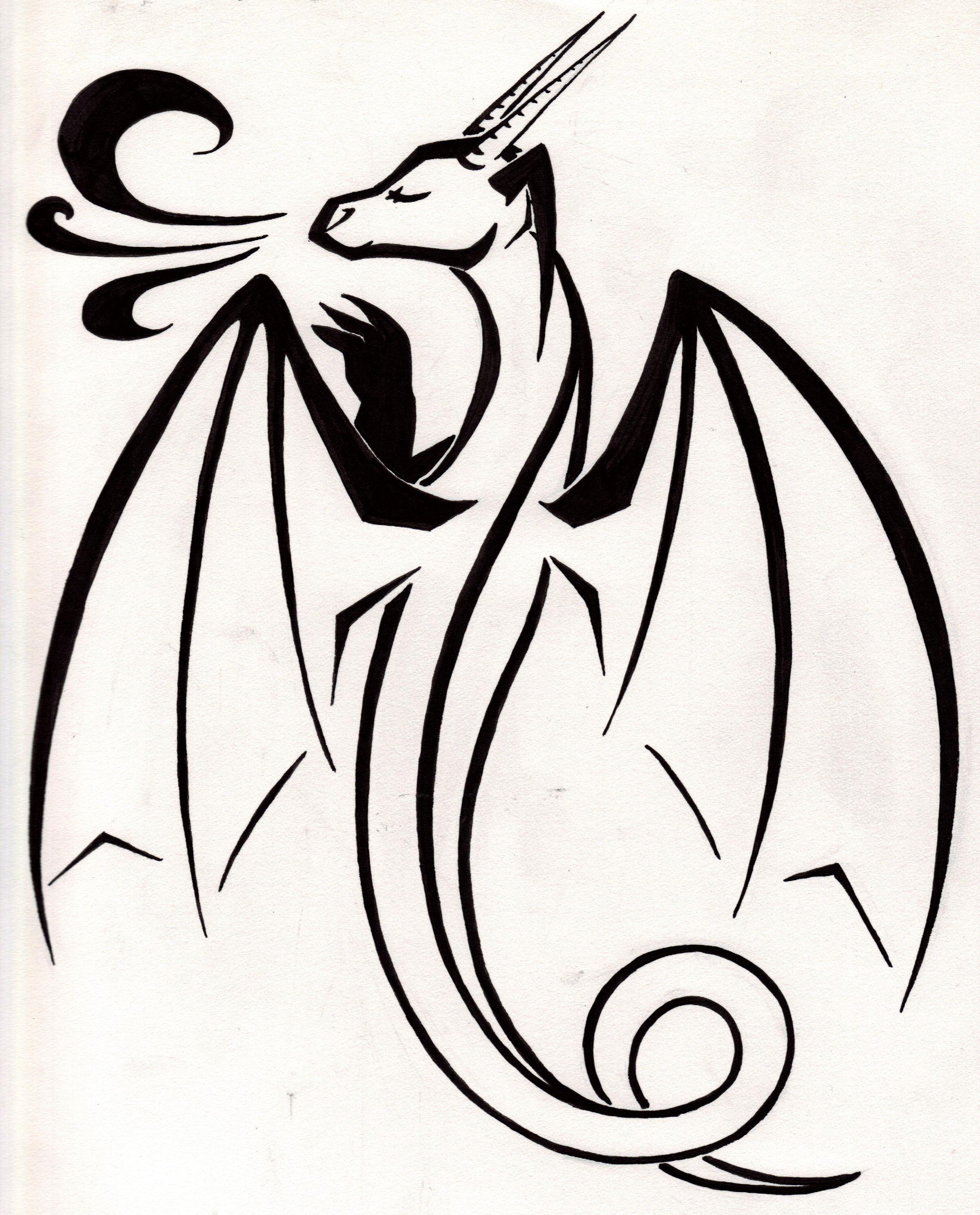 Simple_Dragon_Tattoo_by_TsukiTsu.jpg (2402×2976) Small