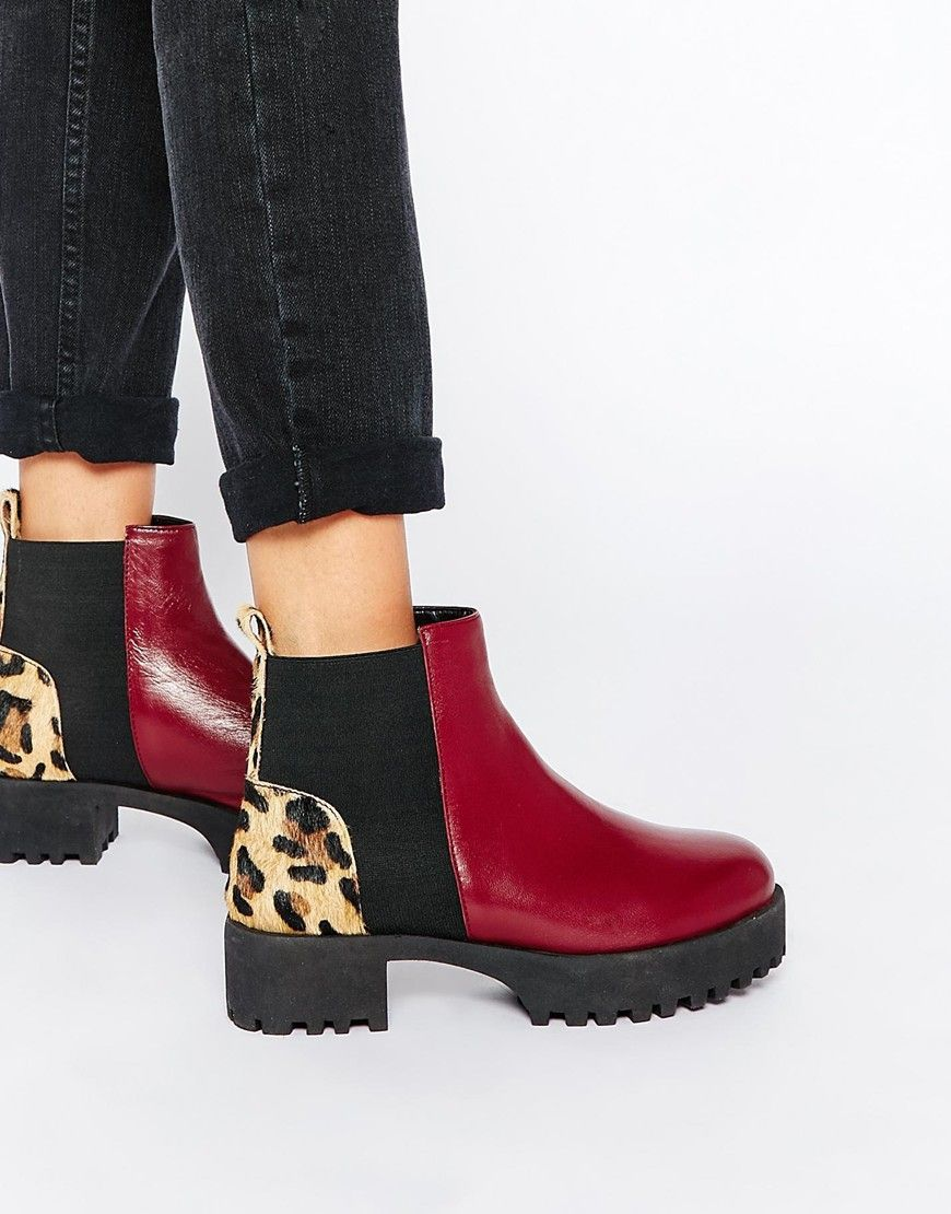 d96a6028aaf ASOS Park Lane Chunky Leather Chelsea Boots | My Style | Chelsea ...