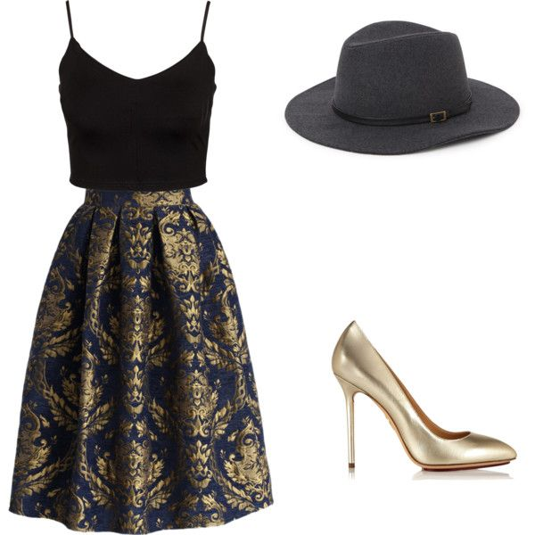 """gold chic"" by gabriela-josanlu on Polyvore"