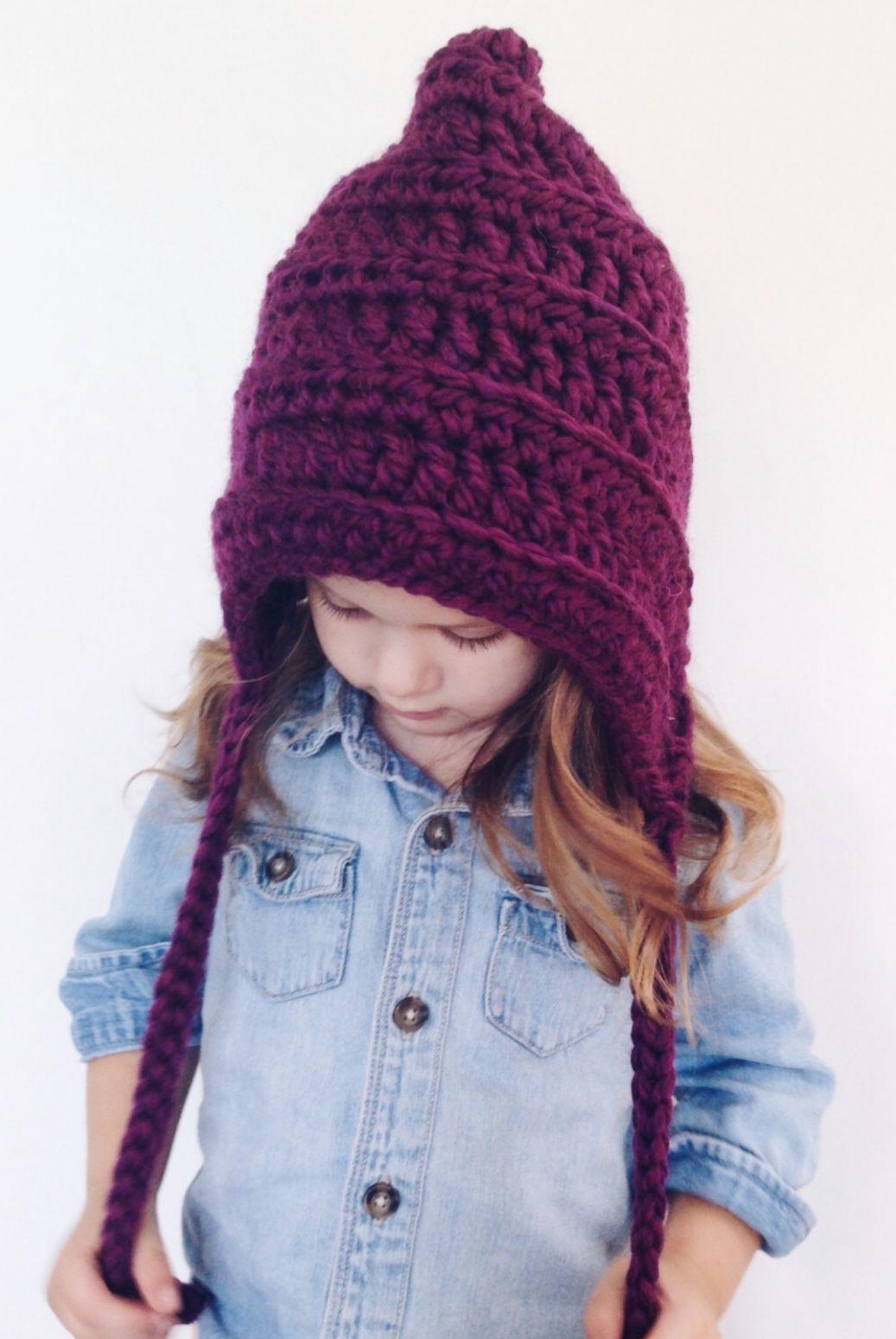Handmade Chunky Knit Pixie Hat | MaxandOliviaCo on Etsy | Fibers ...