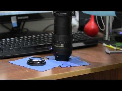 Nikkor AF-S DX 18-200 mm - Front Element Cleaning - Part I - YouTube
