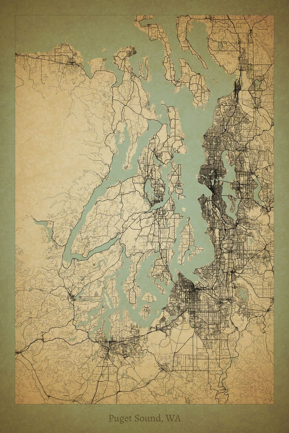 Our new favorite map here at project jefferson the puget sound in our new favorite map here at project jefferson the puget sound in washington state publicscrutiny Choice Image