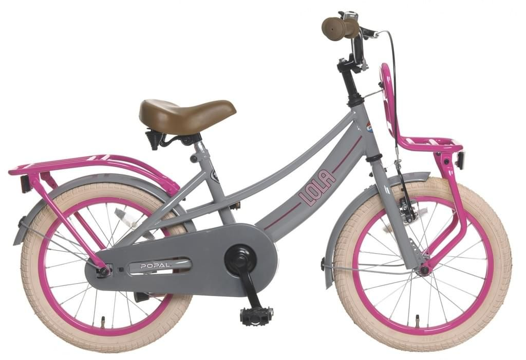 Lola 16 Zoll 25 Cm Madchen Rucktrittbremse Grau Rosa Tricycle