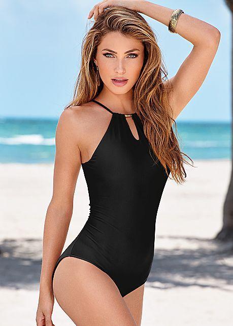 47ce478c78 Triple Dip One-Piece Swimsuit in Black Beauty