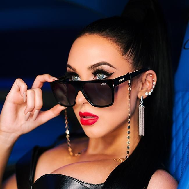 8934edb1ba8 Quay Jaclyn Hill  QUAYXJACLYN Very Busy Black Sunglasses   Smoke Fade Lenses