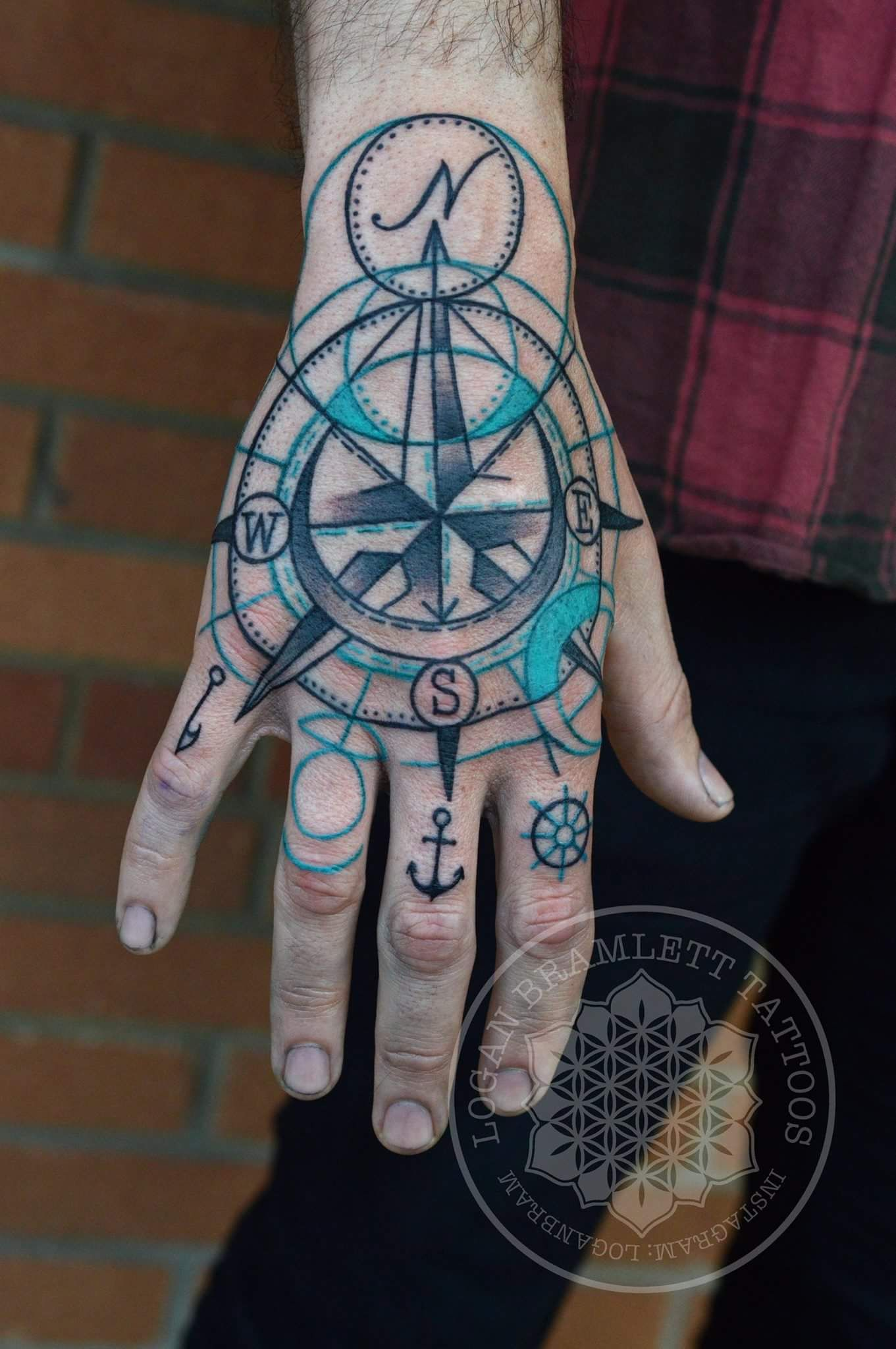 37337b2cc62b0 Abstract/stylized compass by me, Logan Bramlett Wanderlust Tattoo Society  Akron Ohio - Imgur
