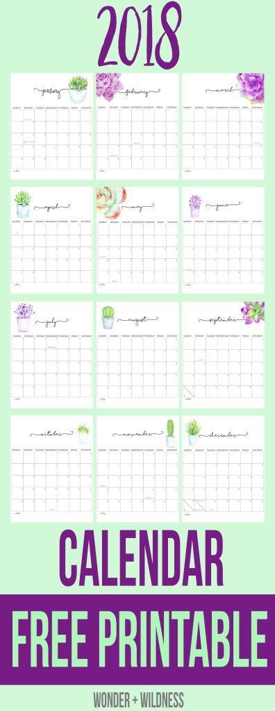 Free  Printable Calendar  Printables    Printable