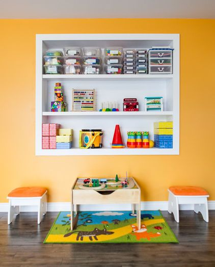 ▻ contemporary kids with in wall shelves for kids toys   » For •The ...