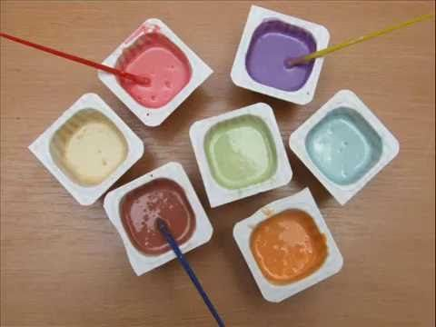 How To Make Homemade Paint With Old Crayons For The Kids To Play Alternative Paint For A Fun Time You Can Fi How To Make Paint Homemade Crayons Homemade Paint