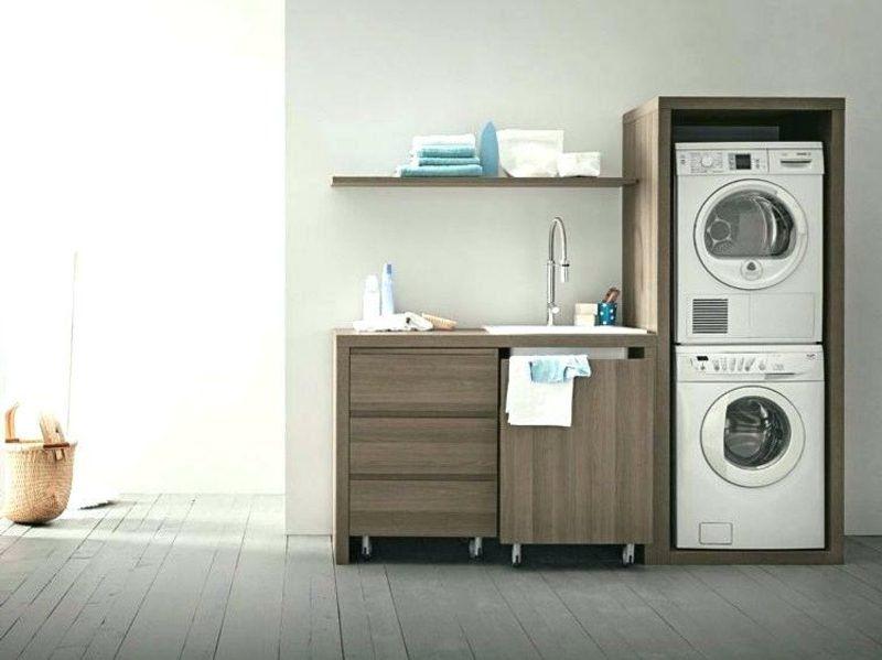 Schrank Fur Waschmaschine Und Trockner Ubereinander Kuche