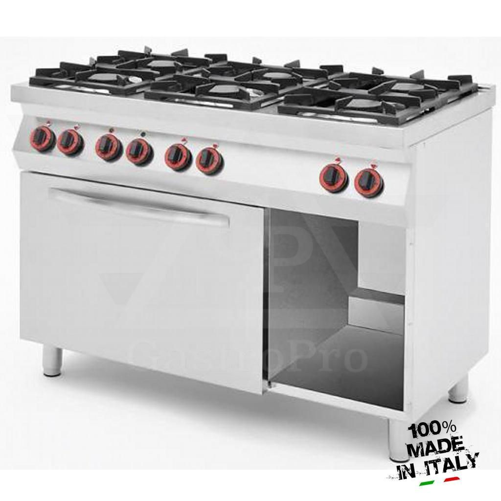 6 Burners Gas Stove with Ventilated Electric Oven mod. CPG12…