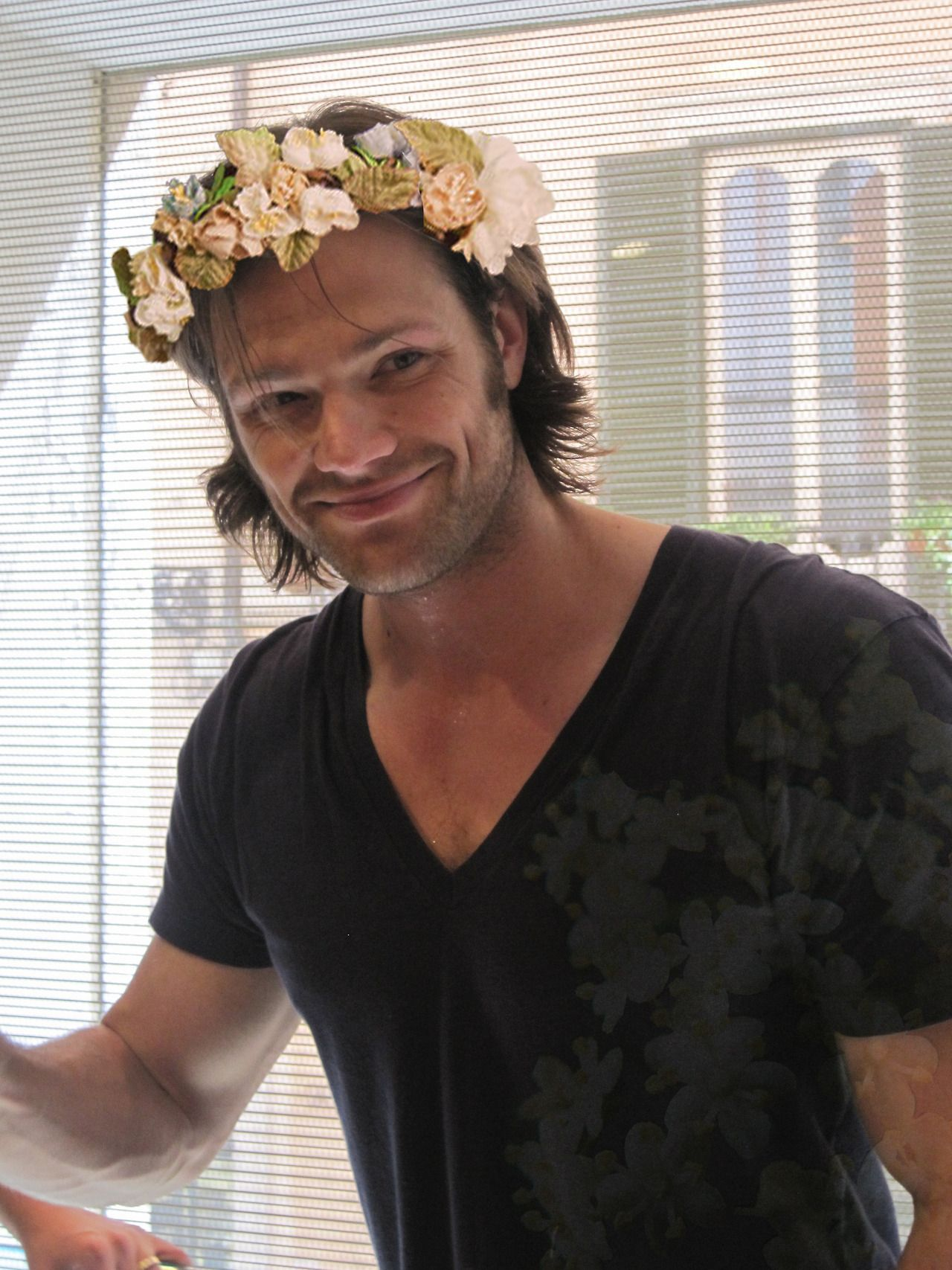 Jared Padalecki Flower Crown Only This Man Could Pull It Off