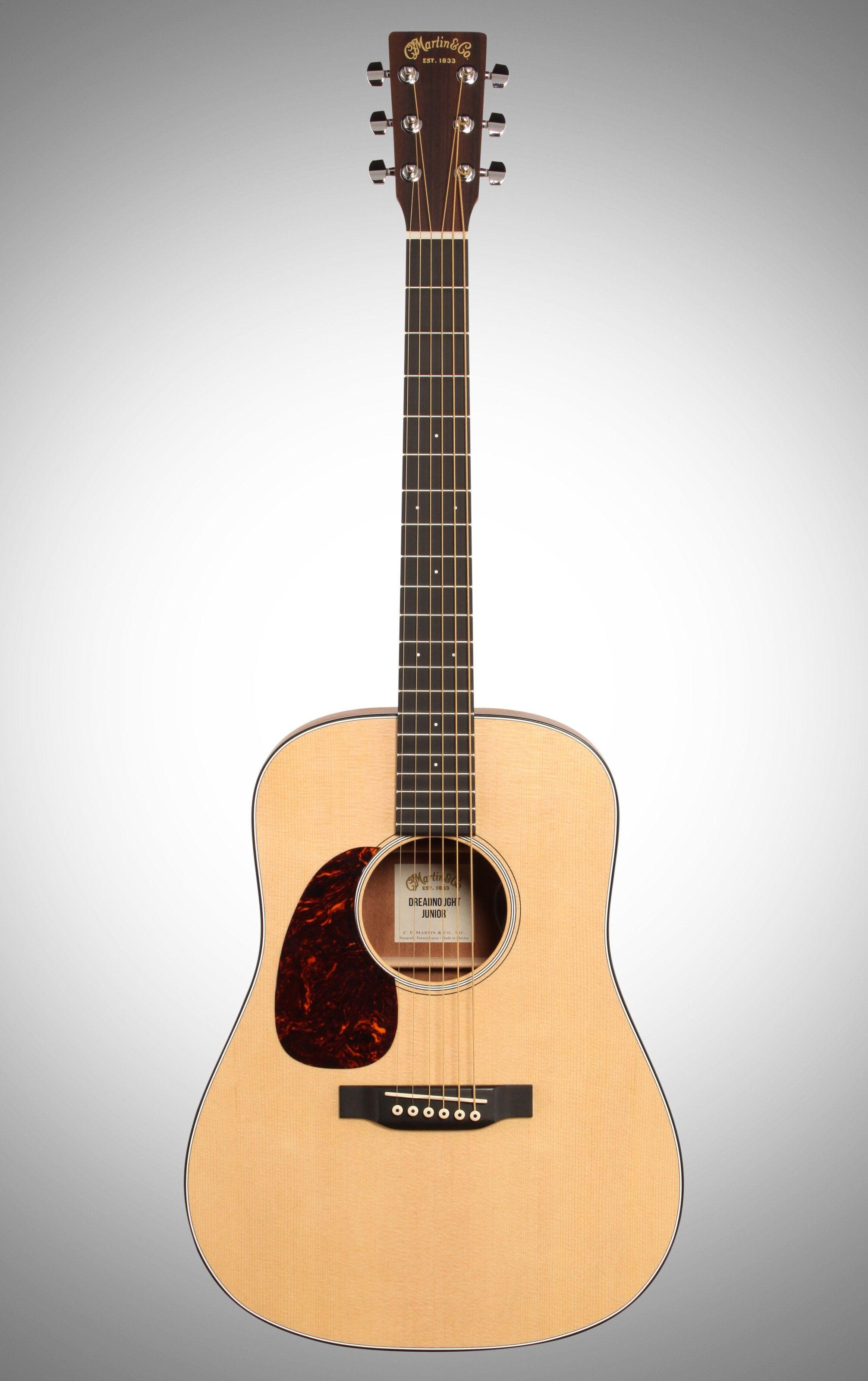 Martin Dreadnought Junior Left Handed Acoustic Guitar W Gig Bag Left Handed Acoustic Guitar Guitar Martin Guitar