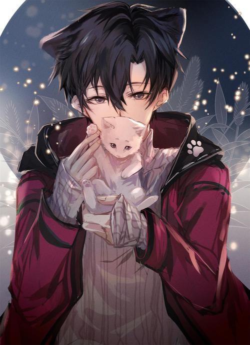 Wintery wonderland catboy mit kitten!! 1/15 in 2020   Anime drawings boy, Cute anime boy, Cool ...
