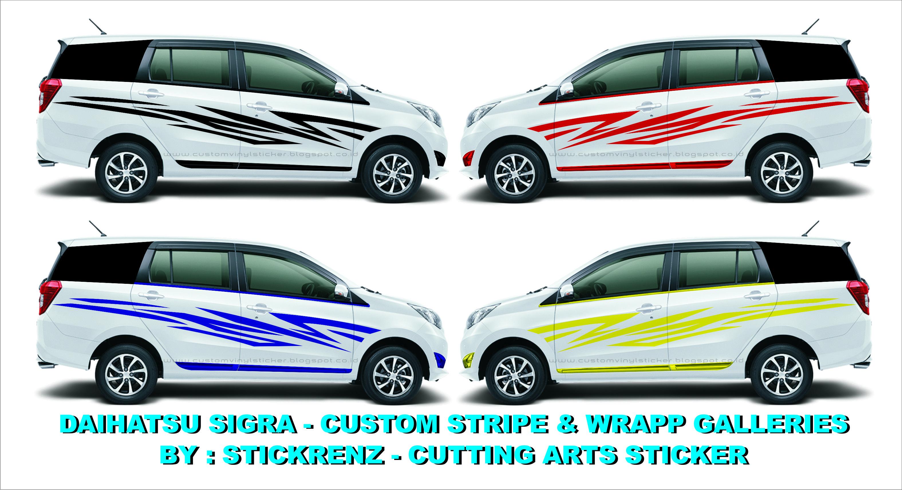Daihatsu Sigra Custom Stripe Wrapp Concept Galleries 002