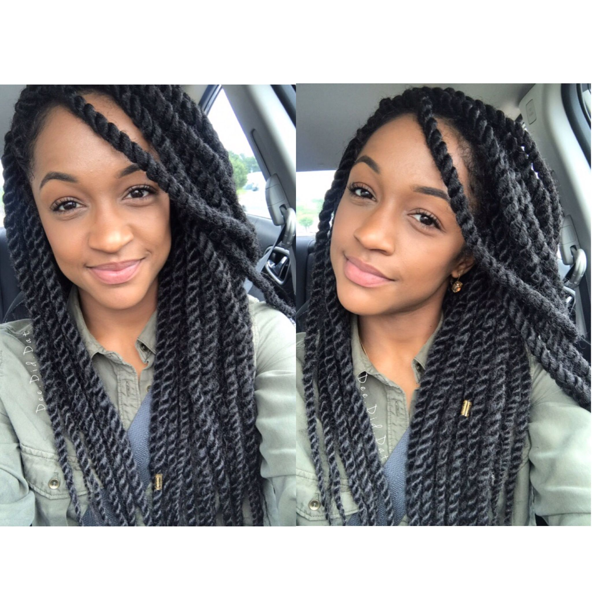 Medium marley twists . Protective styles by @dee.did.dat ...