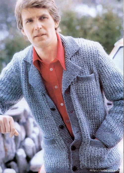 Mens hand knitted wool cardigan 86a | Tejidos Hombre | Pinterest ...