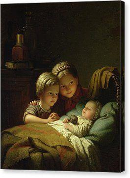 The Three Sisters Canvas Print by Johann Georg