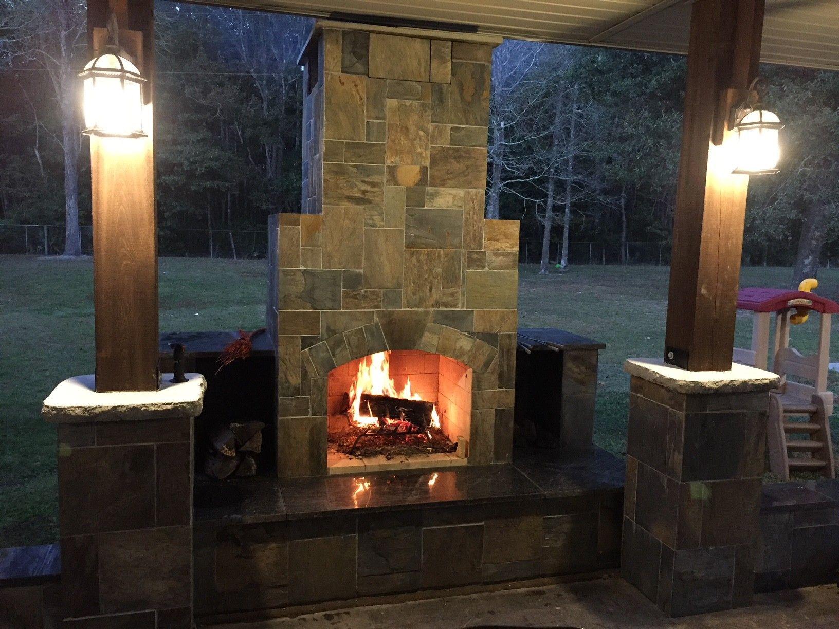 diy outdoor fireplace diy outdoorlife outdoors outdoorliving outdoorfireplace masonry on zink outdoor kitchen id=35954
