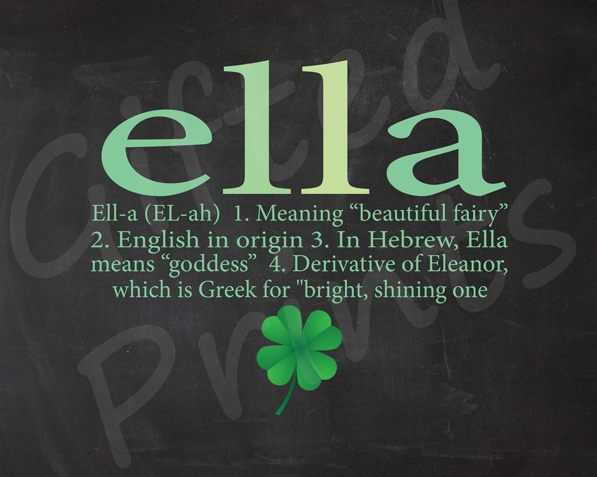 Name Meaning Print Shamrock Theme Elven Beauty Pinterest