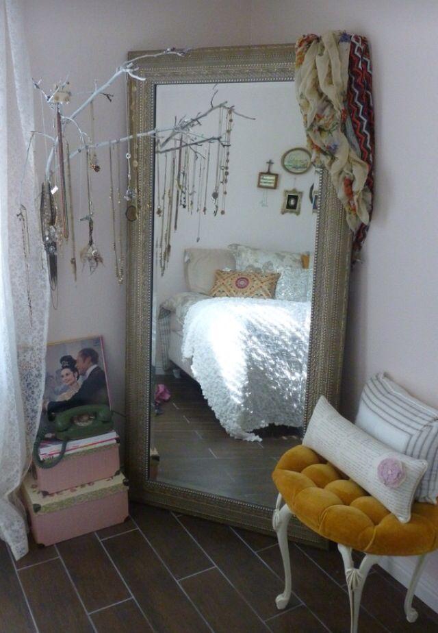 Boho style body length mirror | Apartment Decoration | Pinterest ...