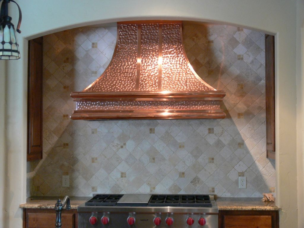 Kitchen: Creative Kitchen Layout Idea With Great Vent Hoods ...wall ...