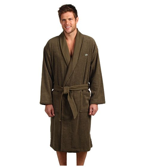Shipping Free Robe Lacoste Both Ways Men's Textured wIqttzR