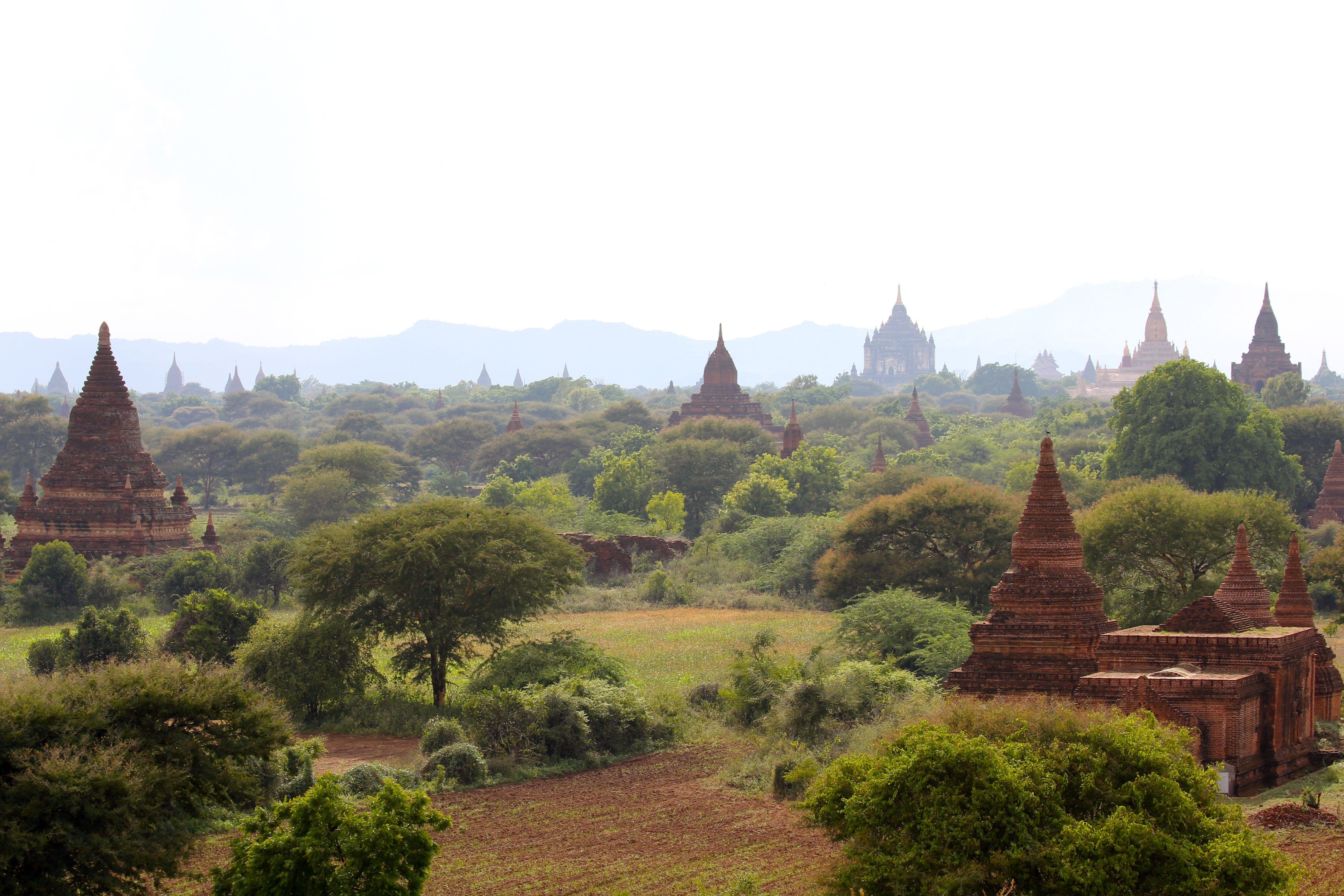 Bagan Birma Wteiwewtamte Pl Monument Valley Natural Landmarks Monument