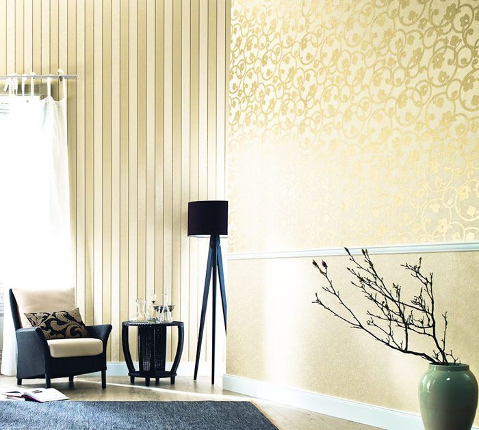 Moderne Tapeten \/ Desire \/ Raumbilder \/ Gold rush - Supertapete - moderne wandgestaltung mit tapeten