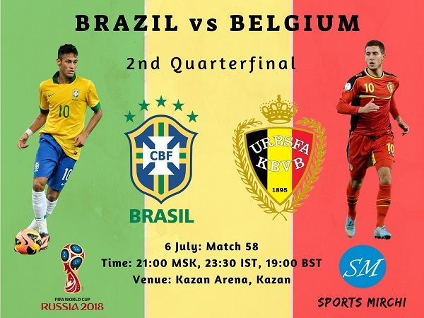 Brazil vs Belgium Live Stream, TV Channels 2018 world cup quarter