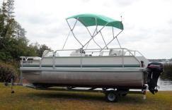 Landau Pontoon Boat 7 500 2003 Landau Bandit 18 Fish Pontoon Boat With A 2003 Mercury 25hp Big Foot 4 Stroke Outboar Pontoon Pontoon Boat Outboard Motors