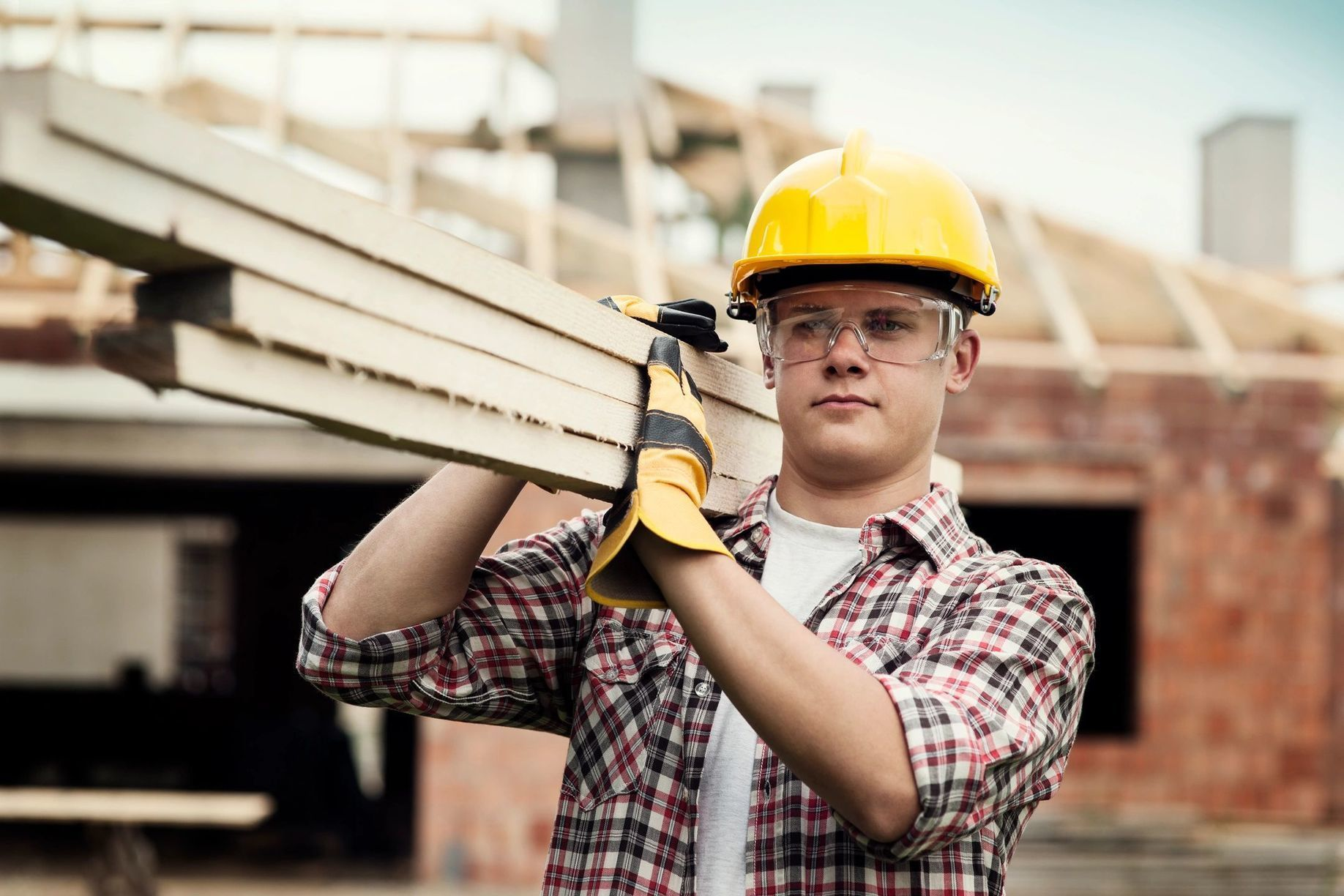 Contact us roofing company construction worker
