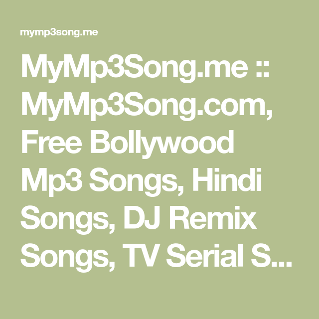 MyMp3Song me :: MyMp3Song com, Free Bollywood Mp3 Songs
