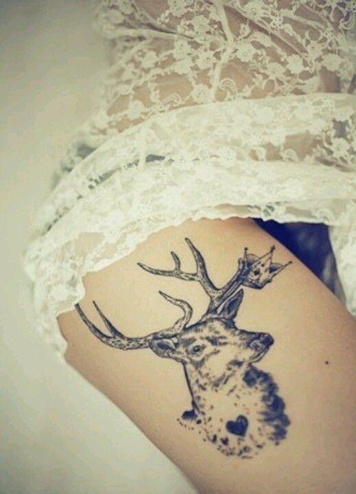 I just love deer tattoos so pretty !
