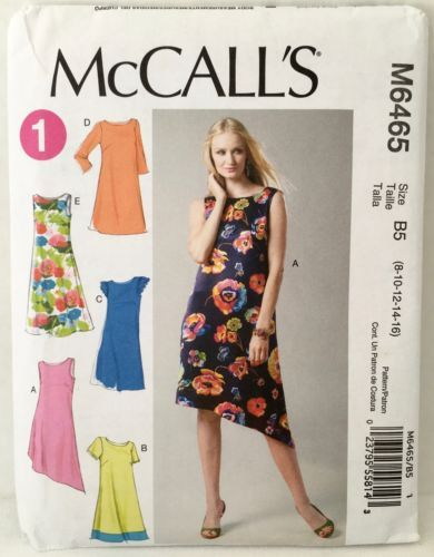 303a15cf0f McCall-039-s-6465-Misses-039-Loose-amp-Flared-1-Hr-Pullover-Summer-Dress -Sz-8-16