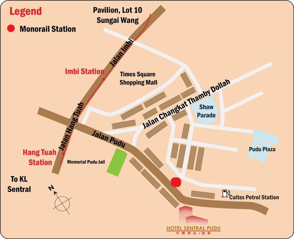 Hotel Sentral Pudu Kuala Lumpur Malaysia Location Map Hotel