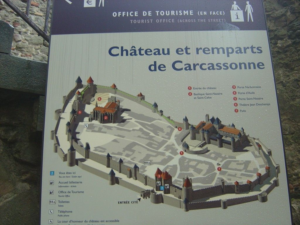 The Carcassone Map Castle and Ramparts of