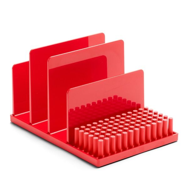 Red Home Base Desk Set is part of Home Accessories Design Office Supplies - Details As a mail sorter in your entry or an organizational system on your desk, the Home Base desk set is designed to stack together to create big impact with a small footprint