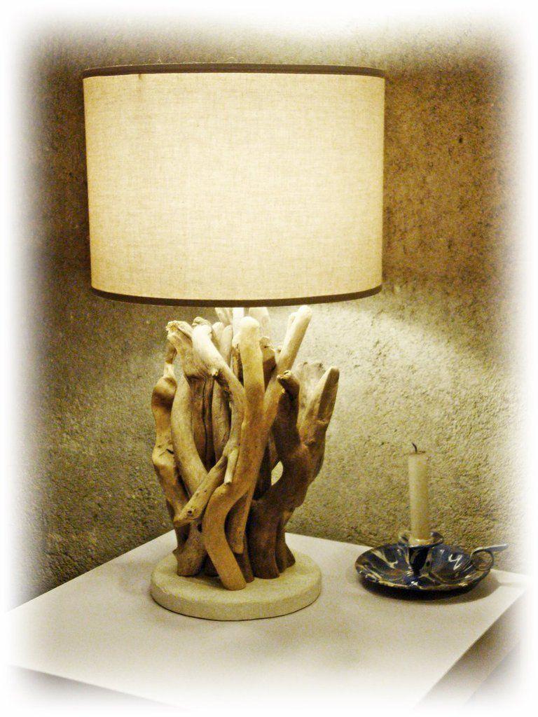 Photo of Lampada LARA con legni marini, bois flotté, legni, treibholz, madera de mar