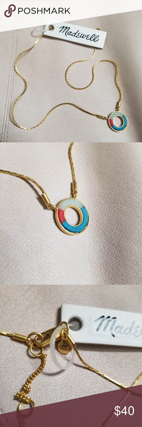 Sold madewell desert sunset circle pendant nwt my posh