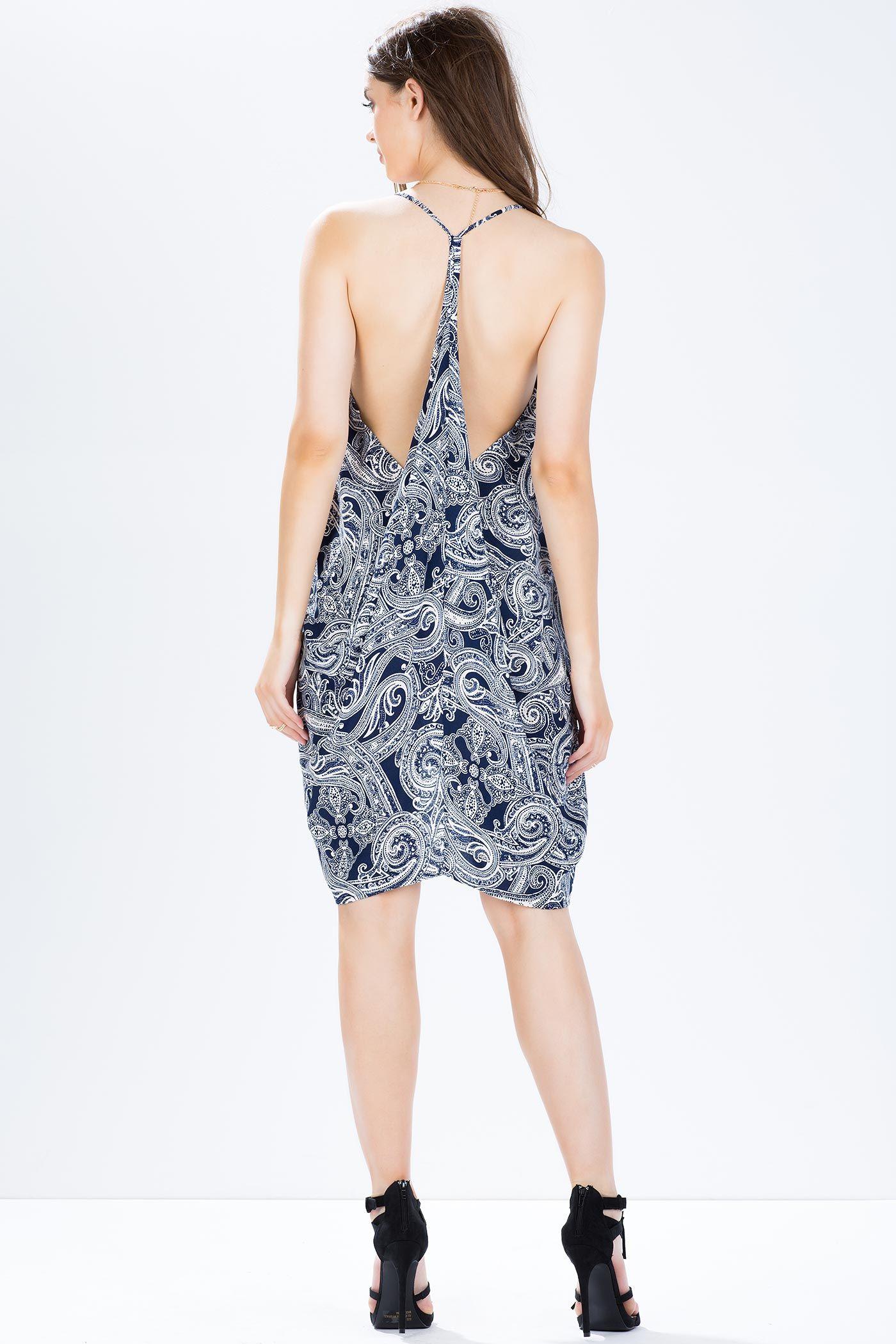 Платье с рюшками Размеры: S, M, L Цвет: синий с принтом Цена: 732 руб.  #одежда #женщинам #платья #коопт