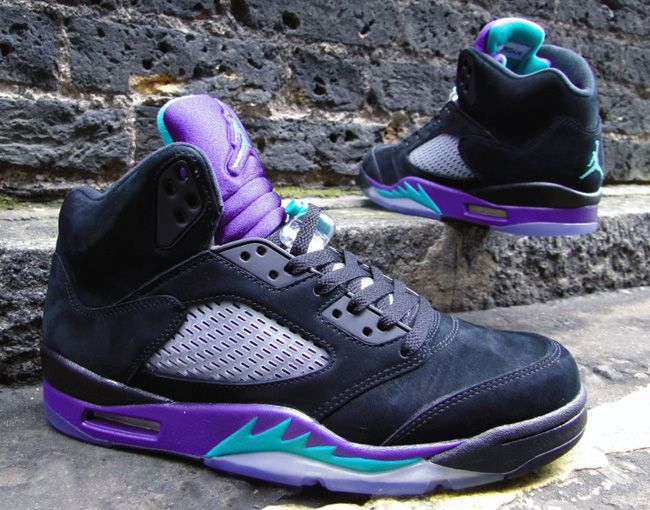 air jordan 5 grape black
