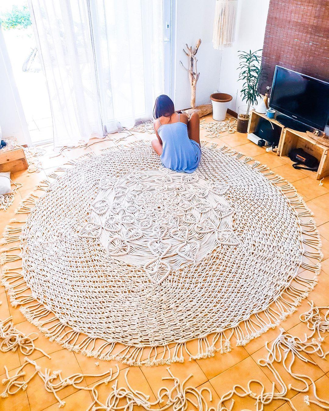 Image May Contain Indoor Mandala Rug Rugs Diy Rug